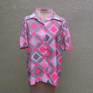 Mod Op-Art Short Sleeve Shirt